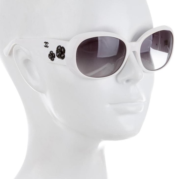 8d7bc44d4c22 CHANEL Accessories | Authentic Camellia 5113 White Sunglasses | Poshmark